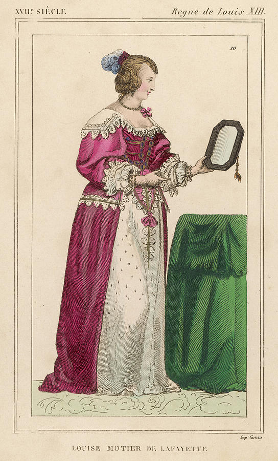 Louise Drawing - Louise Mottier De La Fayette  French by Mary Evans Picture Library