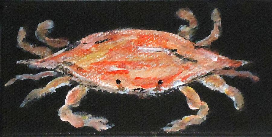 Crab Painting - Louisiana Crab by Katie Spicuzza