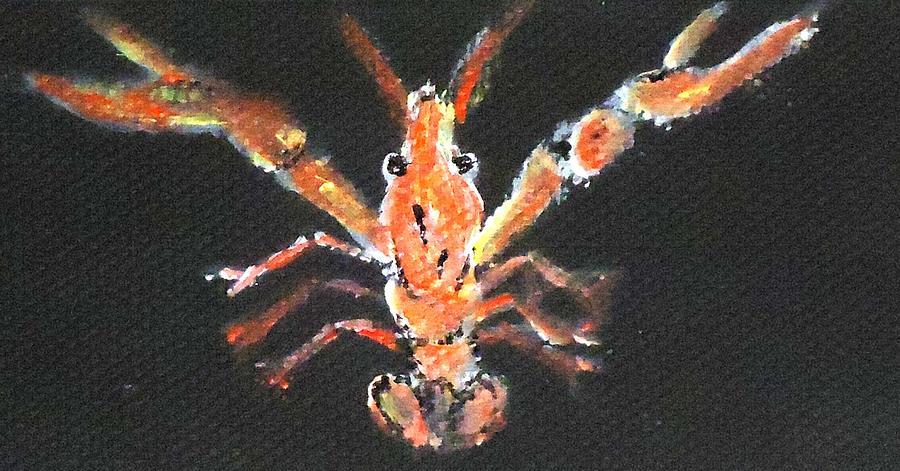 Louisiana Painting - Louisiana Crawfish by Katie Spicuzza