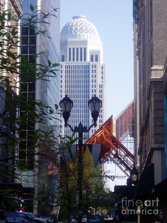 White Photograph - Louisville Buildings 2 by Jennifer E Doll