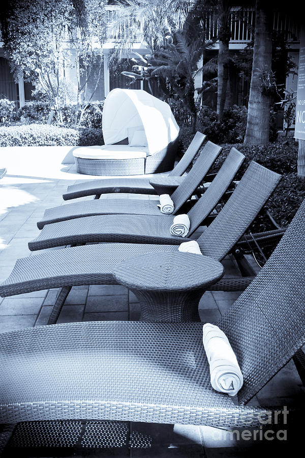 Chair Photograph - Lounge Chairs by Sophie Vigneault