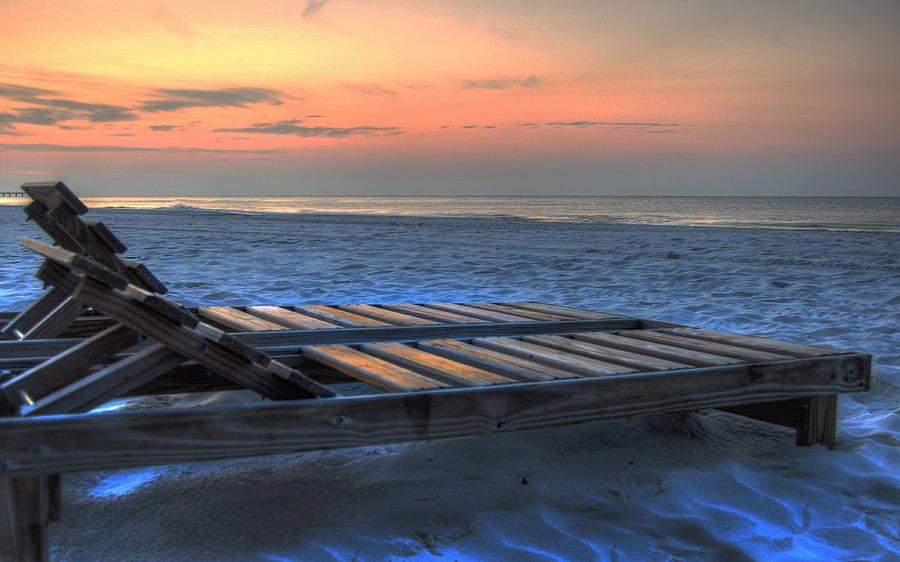 Alabama Painting - Lounge Closeup On Beach ... by Michael Thomas