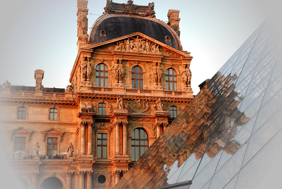 Louvre Museum Photograph - Louvre And Pei by Jacqueline M Lewis