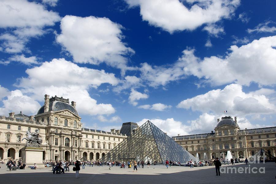 Paris Photograph - Louvre Museum. The Pyramid. Paris by Bernard Jaubert