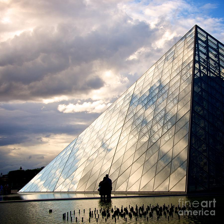 Architecture Attraction Attractions Building Buildings Cultural Culturally Culture Day Daylight  Europe European Exterior  Famous France French Historic Historical History Known Louvre Museum Outdoor Paris  Pyramid Renowned Seeing Sight Site Sites The Tourist Well Well-known Worth Photograph - Louvre Pyramid. Paris by Bernard Jaubert