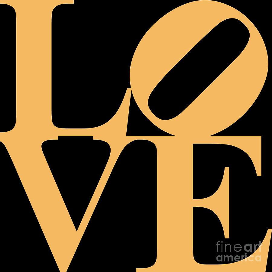 Love Digital Art - Love 20130707 Orange Black by Wingsdomain Art and Photography