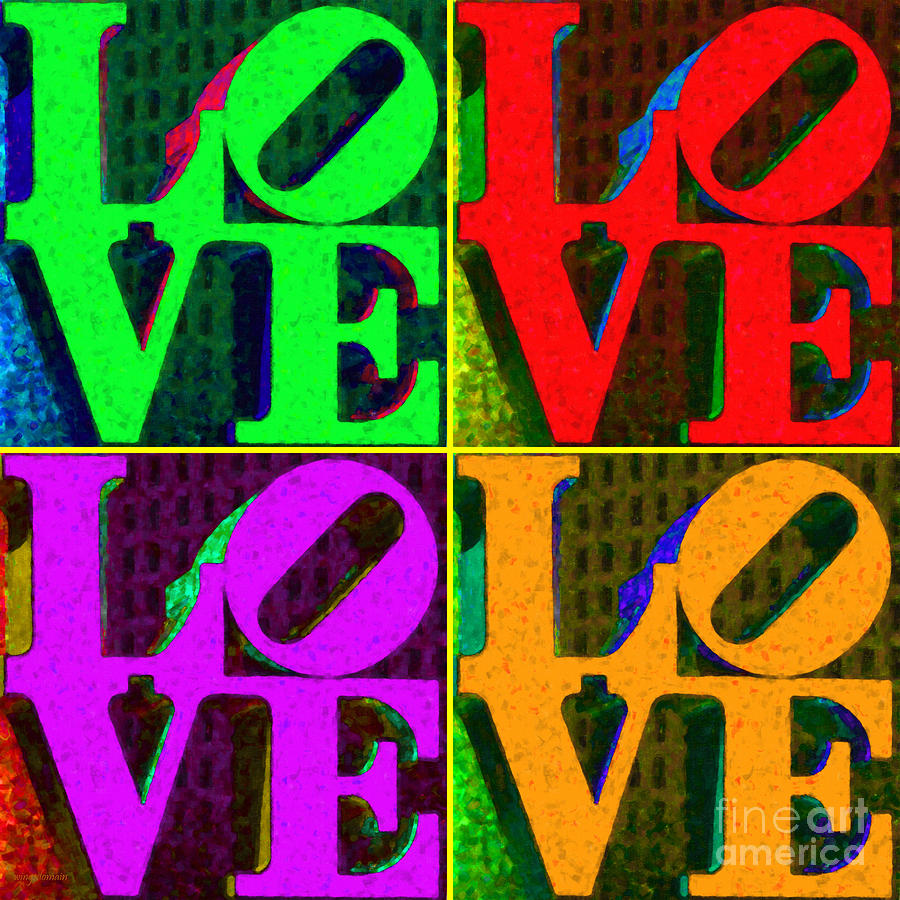 Love Photograph - Love 4 Philadelphia - Painterly V4 by Wingsdomain Art and Photography