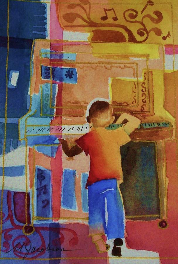 Piano Mixed Media - Love A Piano 1 by Marilyn Jacobson