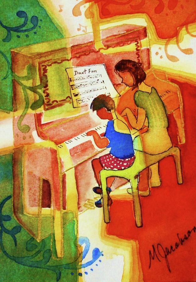 Piano Painting - Love A Piano 2 by Marilyn Jacobson