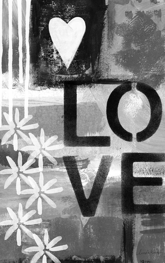 Love- Abstract Painting Painting by Linda Woods