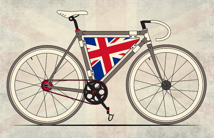 Bradley Digital Art - Love Bike Love Britain by Andy Scullion