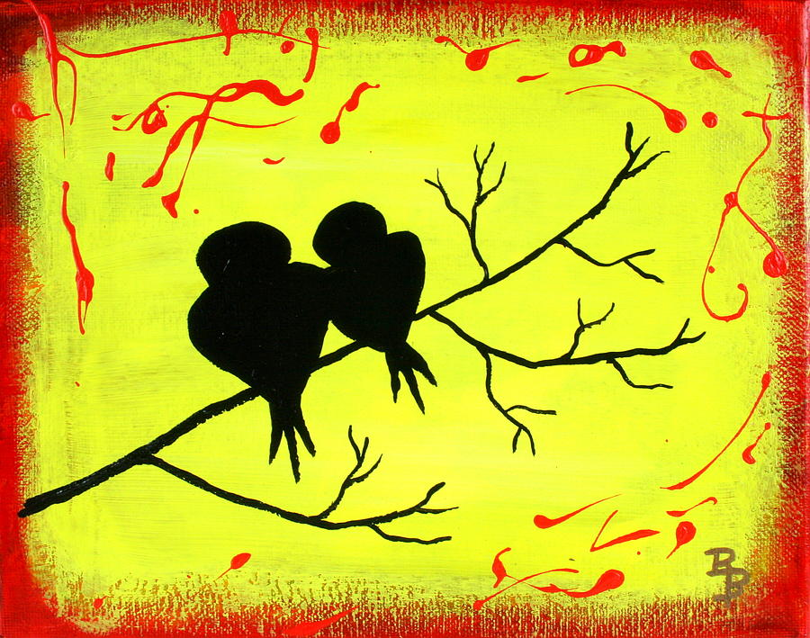 Love Birds Painting - Love Birds Art by Bob Baker
