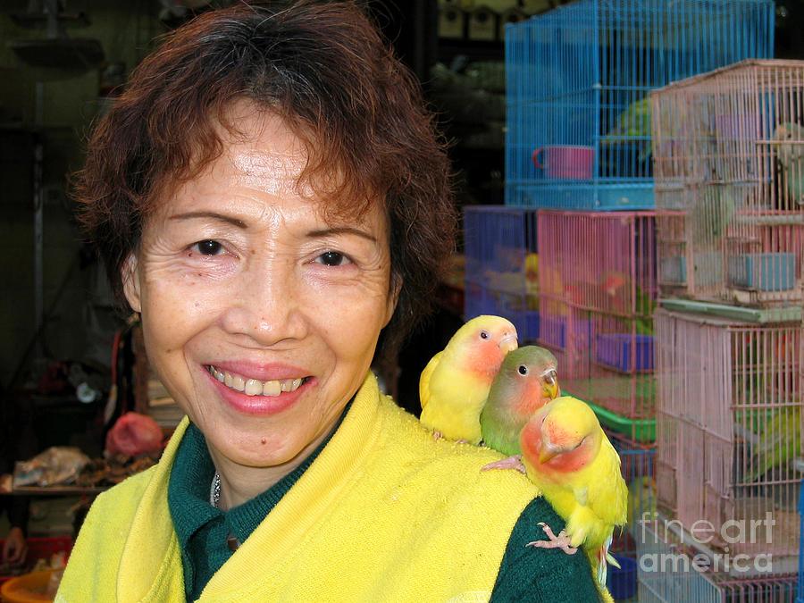 Hong Kong Digital Art - Love Birds by Eva Kaufman