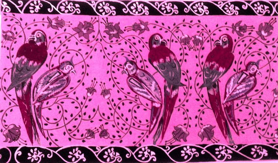 Birds Painting - Love Birds by Karunita Kapoor