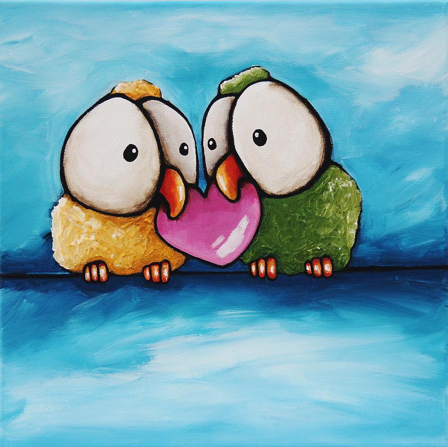 Смешные рисунки птицы, открытки