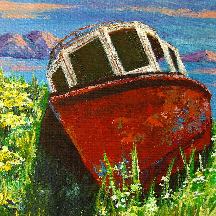 Boat Painting - Love Boat by Patricia Awapara
