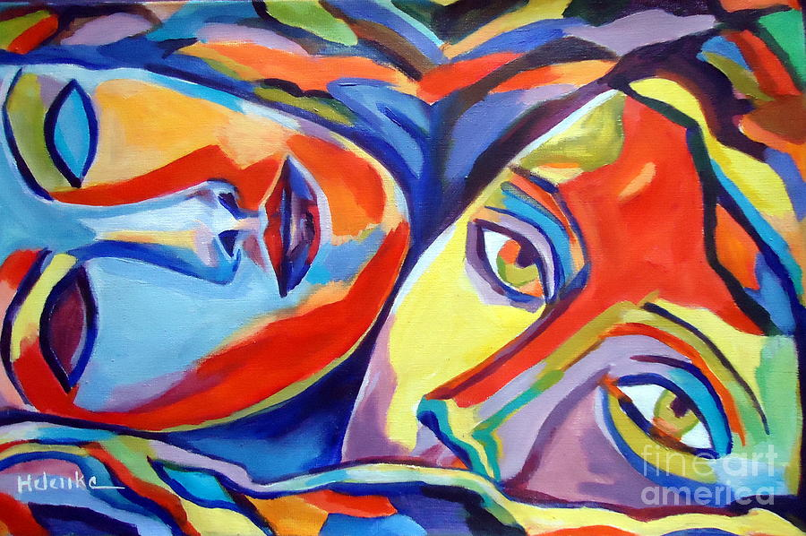 Colorful Painting - Love Bond by Helena Wierzbicki