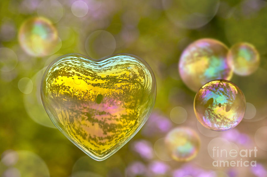 Valentine Photograph - Love Bubble by Delphimages Photo Creations
