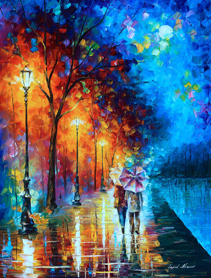 Love Painting - Love By The Lake by Leonid Afremov