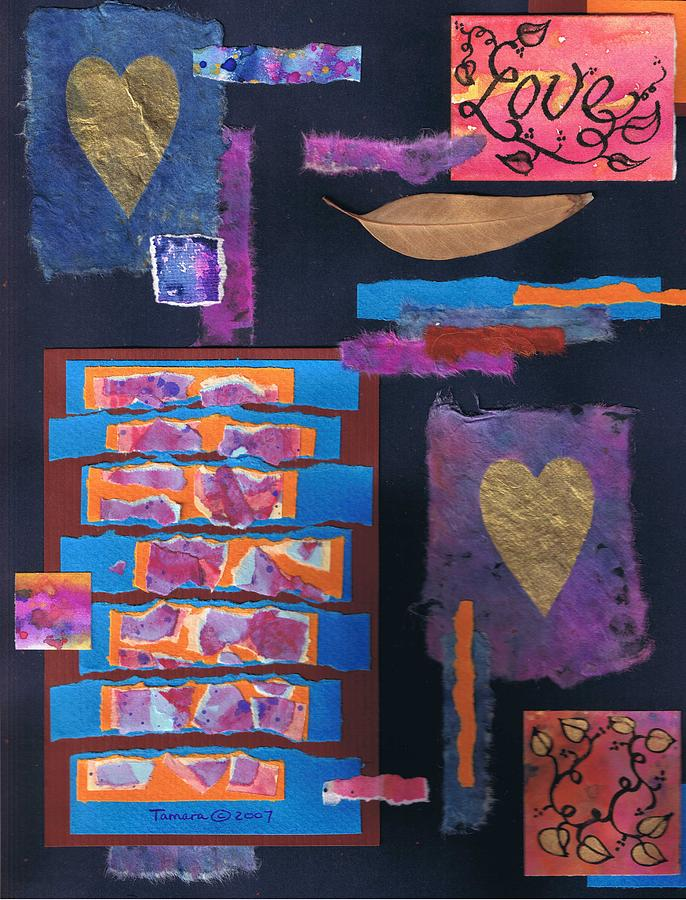 Paper Collage Mixed Media - Love Collage 1 by Tamara Kulish