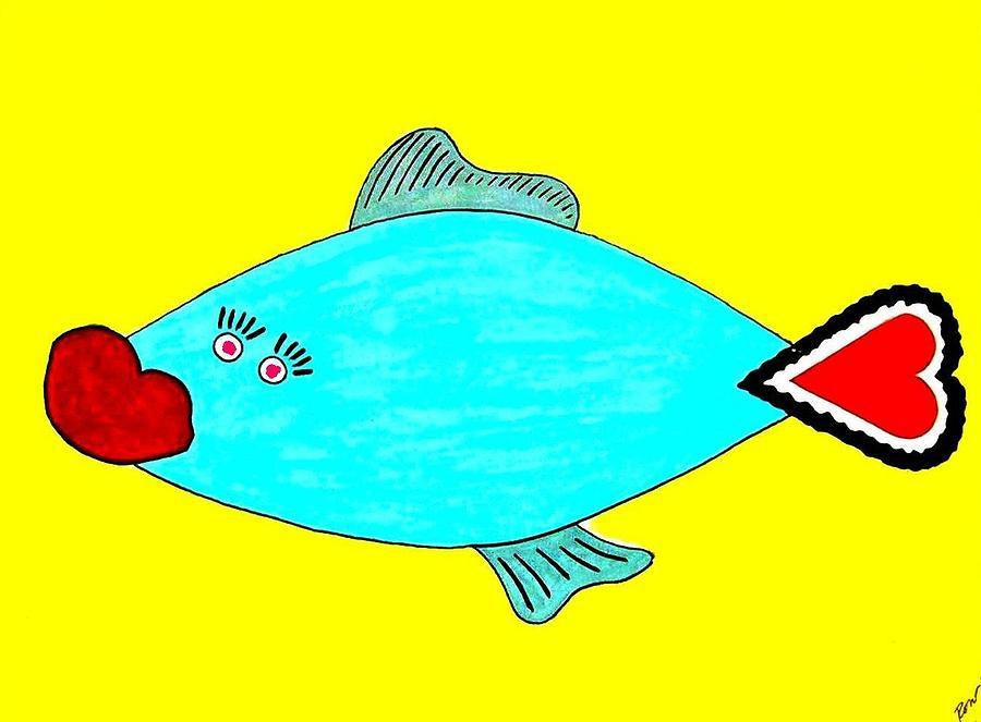 Love Digital Art - Love-fish by Rodemondo Rocca