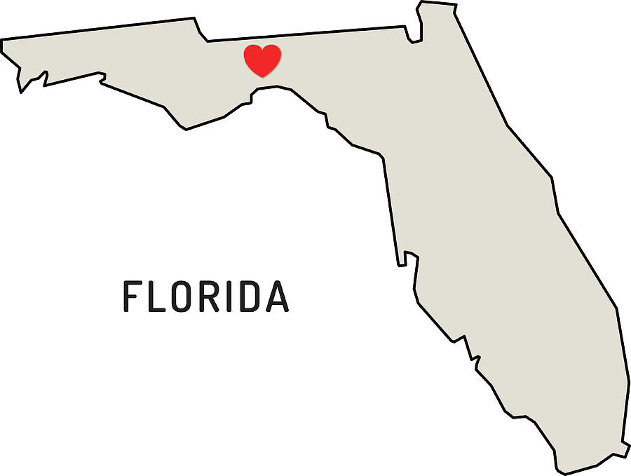 Love Florida State Digital Art by Chokkicx