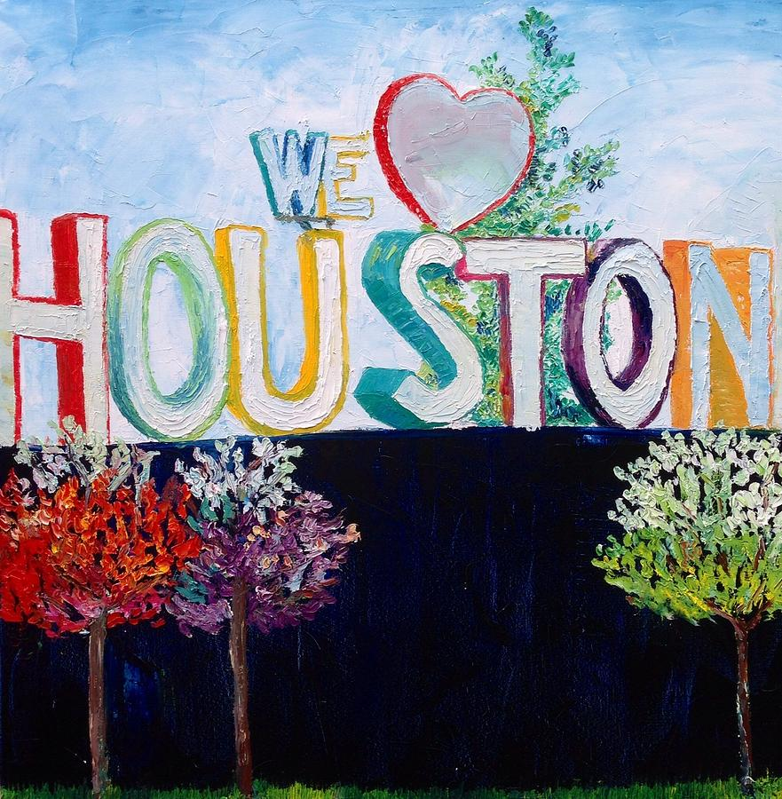 Houston Painting - Love For Houston by Lauren Luna
