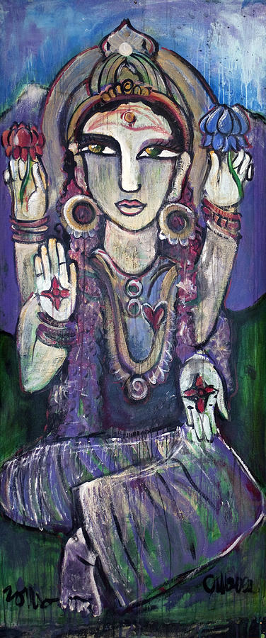 Parvati Painting - Love For Parvati by Laurie Maves ART
