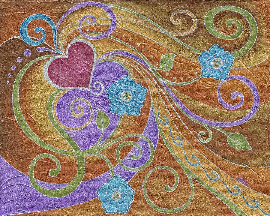 Love Painting - Love Garden I by Elaine Allen