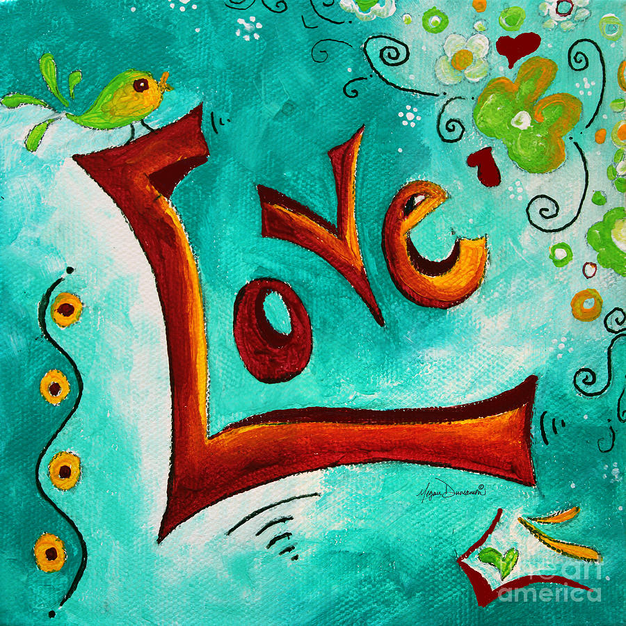 love inspirational typography art original word art
