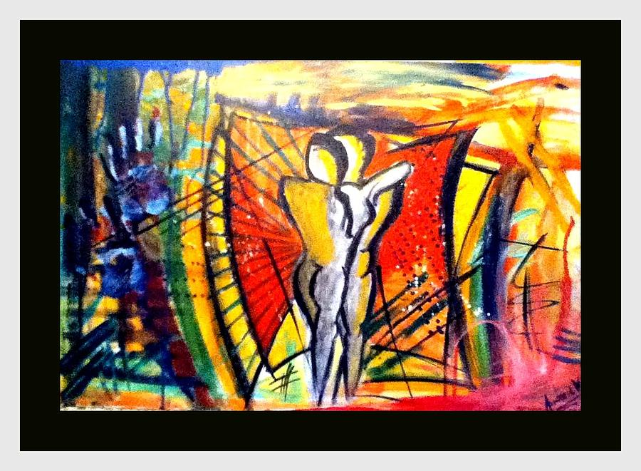 Separation Painting - Love Is A Struggle by Andrew Varghese