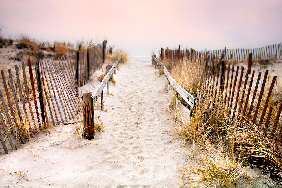 Love Photograph - Love Is Everything - Footprints In The Sand by Gary Heller