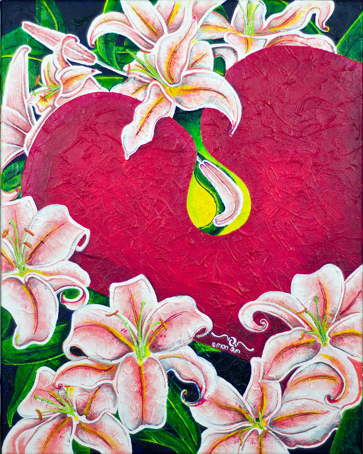 Love Painting - Love Is Flourishing by Divinity MonSun Chan
