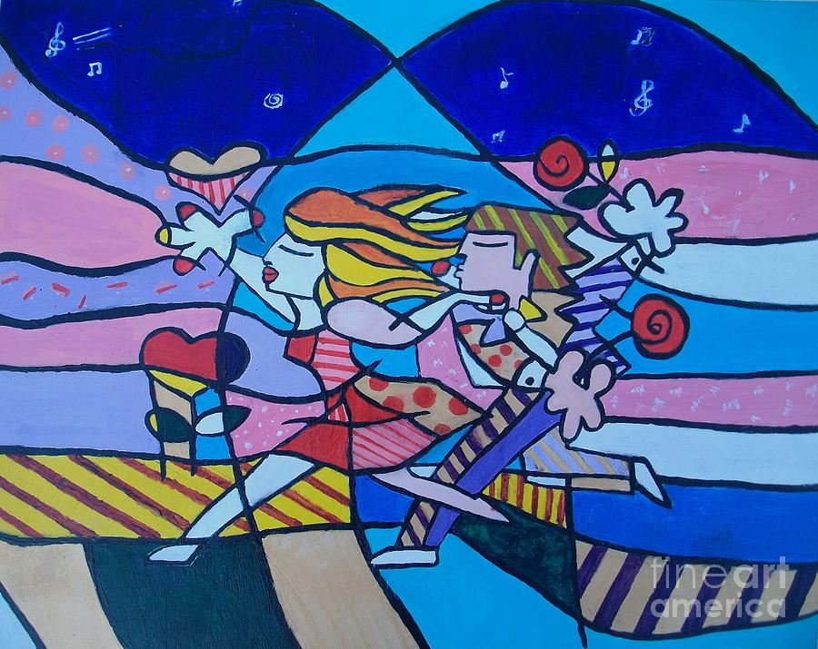 Happy Couple Painting - Love Is In The Air by Marcus Hudson