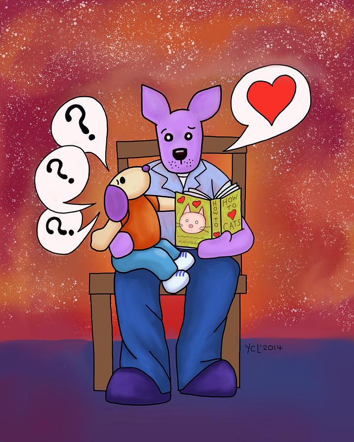 Dingo Digital Art - Love is Patient by Yvonne Lozano