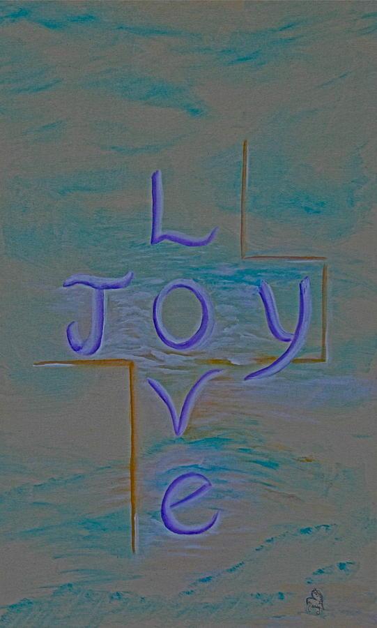 Sky Painting - Love Joy by Mary Grabill