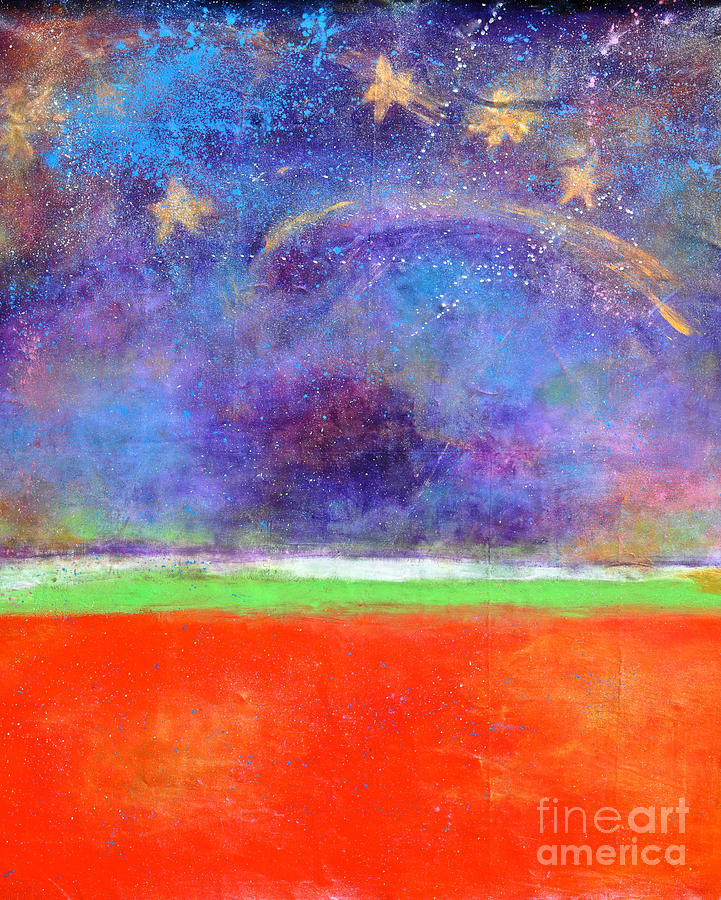 Abstract Sky Painting - Love Land And Sky by Johane Amirault