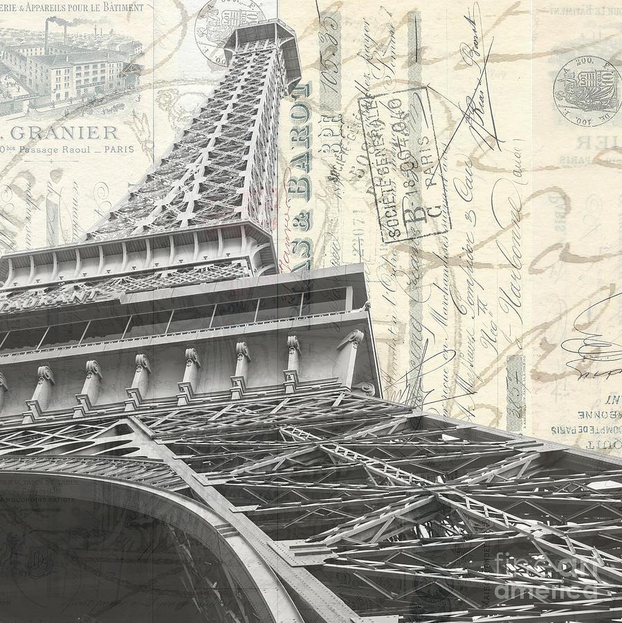 Paris Photograph - Love Letter From Paris Square by Edward Fielding