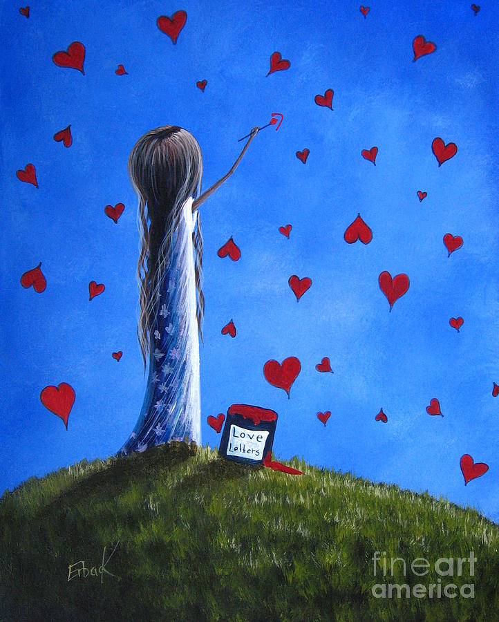 Whimsical Painting - Love Letters By Shawna Erback  by Shawna Erback