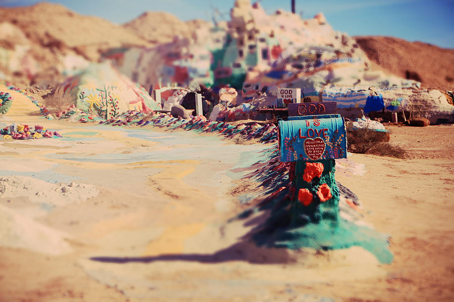 Salvation Mountain Photograph - Love Letters by Laurie Search
