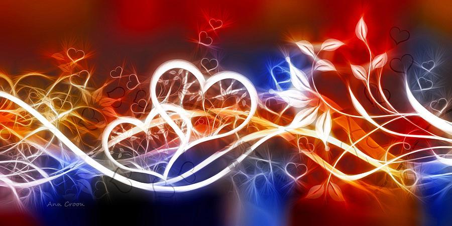 Love Lines Digital Art - Love Lines by Ann Croon