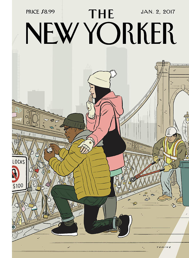 Love Locks Painting by Adrian Tomine