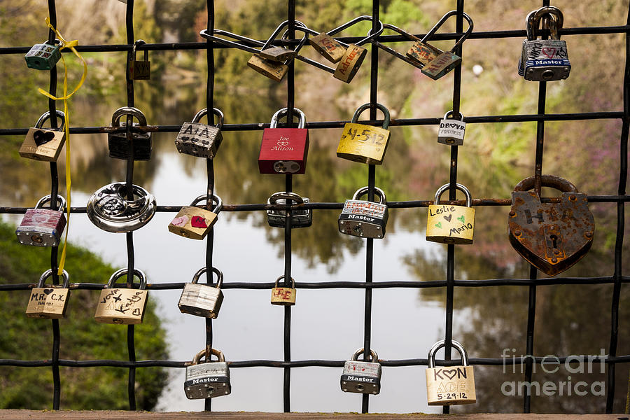 Romance Photograph - Love Locks by Juan Romagosa