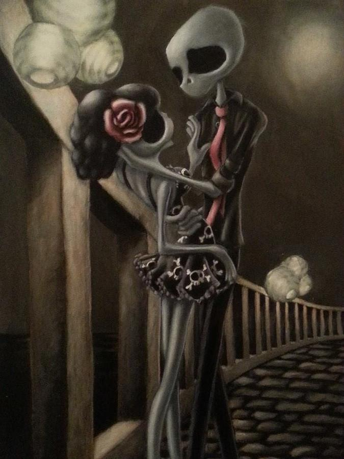 Dark Painting - Love by Lori Keilwitz