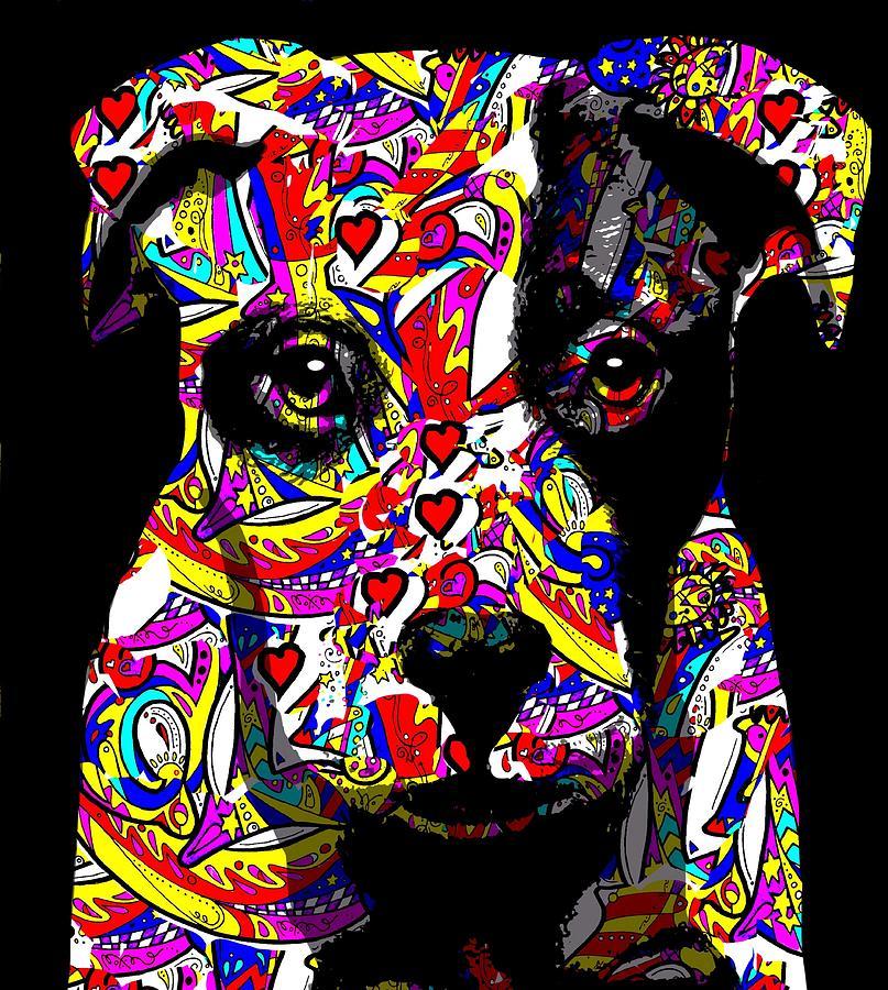 Dog Digital Art - Love My Pup by Cindy Edwards