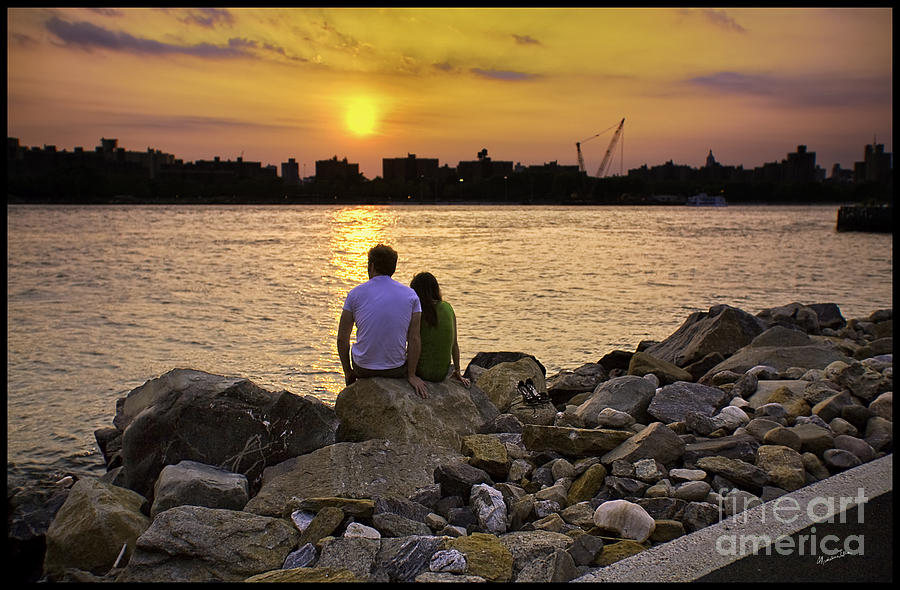 Man Photograph - Love On The Rocks In Brooklyn by Madeline Ellis