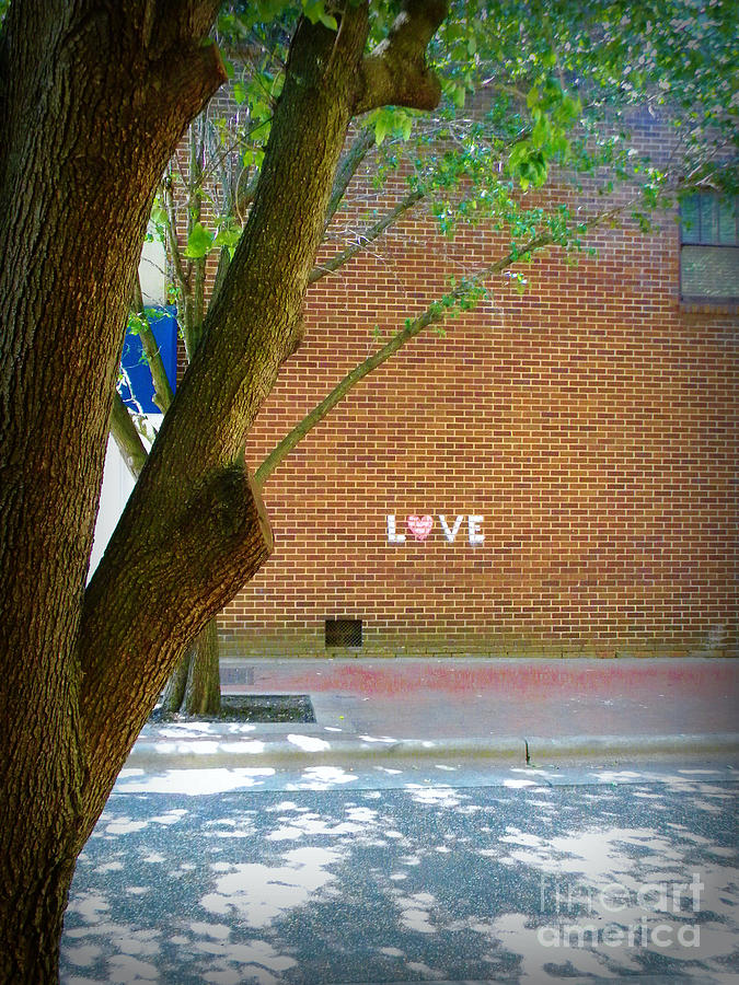 Old Building Photograph - Love On The Wall by Lorraine Heath