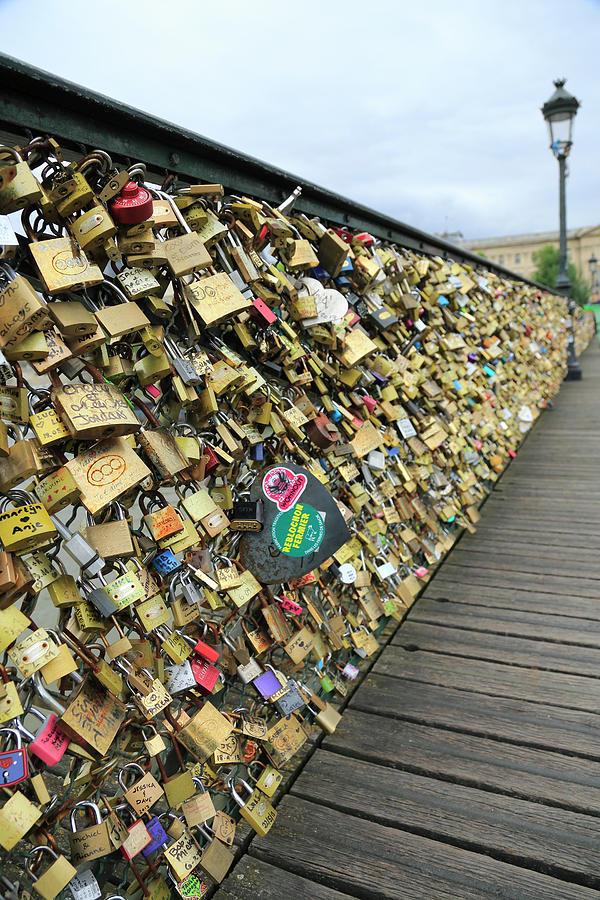 Love Padlocks On Pont Des Arts Bridge Photograph by Bruce Yuanyue Bi