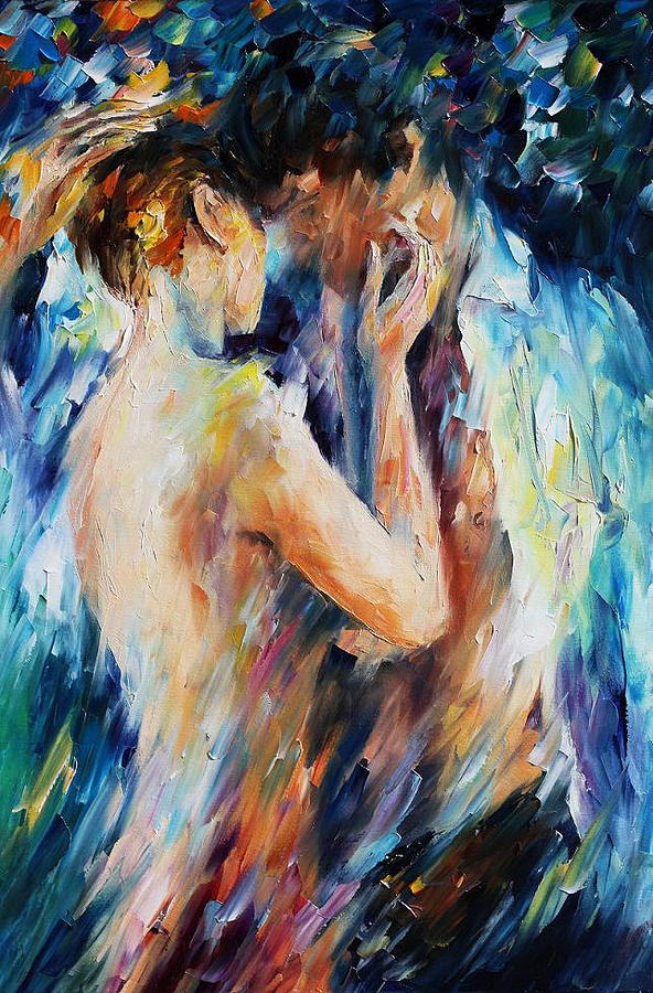 oil paintings painting love palette knife figure oil painting on canvas by leonid afremov