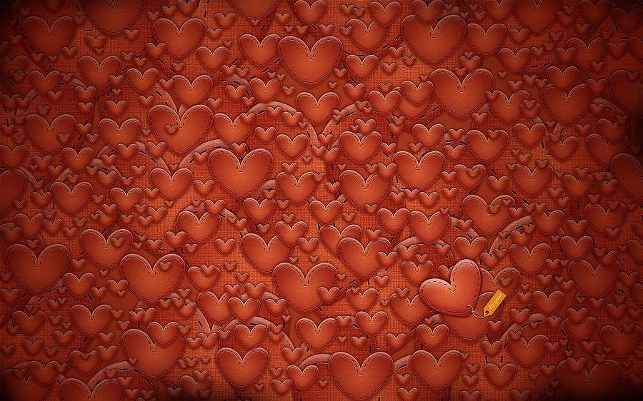 Abstract Digital Art - Love Patches by Gianfranco Weiss